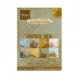 Sada papírů - A5 - Vintage Men