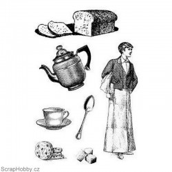 Cling razítko - Čaj o páté