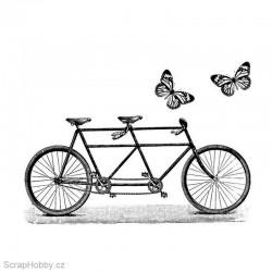 Razítko dřevěné - Motýlkové kolo pro dva