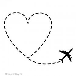 Razítko dřevěné - Let za láskou