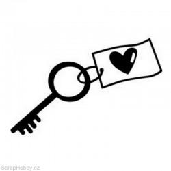 Razítko dřevěné - Klíč ke štěstí