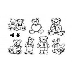 Razítka s medvídkem a srdíčkem