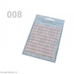 Samolepící perličky - Růžové střední 100ks