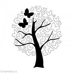 Razítko dřevěné - Motýlí strom