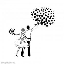 Razítko dřevěné - Zamilovaní