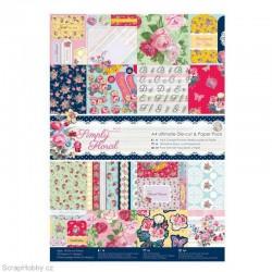 Sada papírů a výřezů - Ultimate A4 - 48ks - Simply Floral