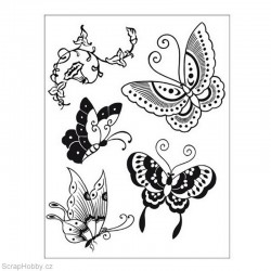 Cling razítko - Motýlci 5ks.