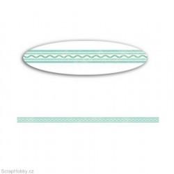 Washi páska - Modrá vlnovka 1cmx10m