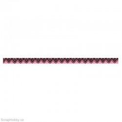 Washi páska - Růžová krajka 1cmx10m