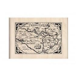 Scrapbooking - Razítko dřevěné - Mapa