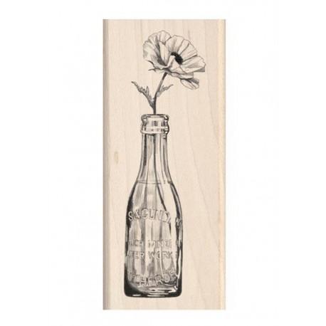 Razítko dřevěné- Květiny a lahve