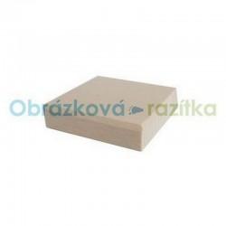 Čtvercový dřevěný bloček k razítkům - 5x5 cm