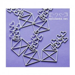Chipboard - Srdíčkové obálky