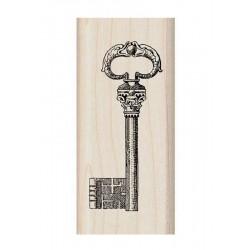 Scrapbooking - Razítko dřevěné - Ozdobný klíč
