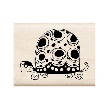 Scrapbooking - Razítko dřevěné - Želva