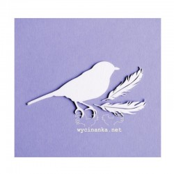 Chipboard - Ptáček + 2 pírka