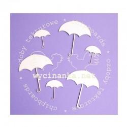 Chipboard - Deštníčky - 6ks
