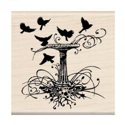 Scrapbooking - Razítko dřevěné - Ptačí pítko