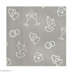 Transparentní papír - Svatební - A4