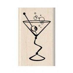 Scrapbooking - Razítko dřevěné - Martini