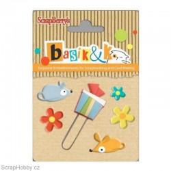 Sada hřebíčků - Kolekce - Basic&K - Myšky, dárky. kytičky..