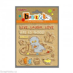 Gelové razítko - Basic&K - Live Laugh, Love - 10ks