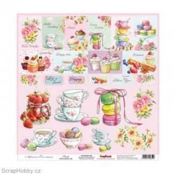 Jednostranný papír - Afternoon Tea - Sweets