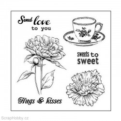 Gelové razítko - Afternoon Tea - Sweets to sweet - 6ks