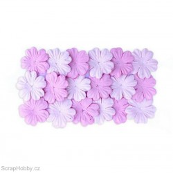 Kytičky z morušového papíru - světle růžová a růžová