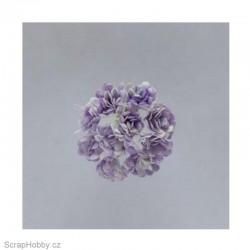 Sada kytiček - Chryzantémy - lila - 10ks