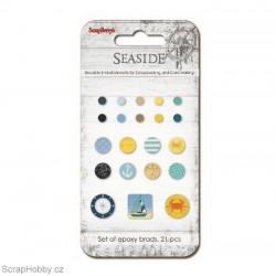 Sada hřebíčků - Kolekce - Seaside - loďka, kotva, kompas....