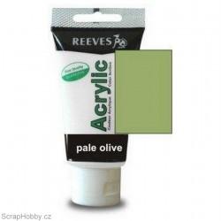 Akrylová barva - Pale Olive - olivová - 75ml