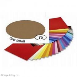 Jednobarvé papíry - Světle hnědý - 130g - A4