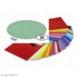 Jednobarvé papíry - Mátový - 130g - A4