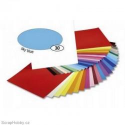 Jednobarvé papíry - Světle modrý - 130g - A4