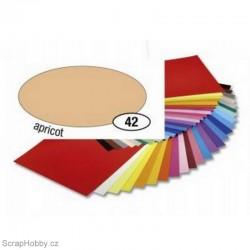 Jednobarvé papíry - Meruňkový - 130g - A4