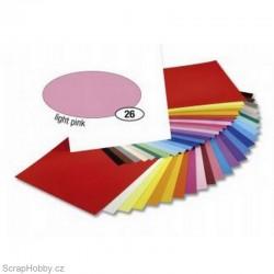 Jednobarvé papíry - Světle růžový - 300g - A4