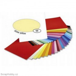 Jednobarvé papíry - Světle žlutý - 300g - A4