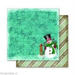 Oboustranný papír - Sněhulák