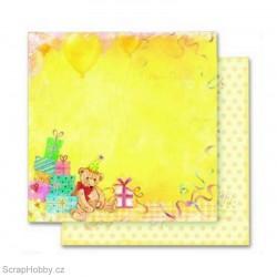Oboustranný papír - Happy Birthday