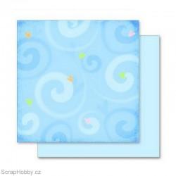 Papír - Oboustranný papír - Srdíčka a spirály