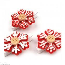 Kolíčky vánoční - vločky