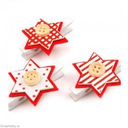 Kolíčky vánoční - hvězdičky