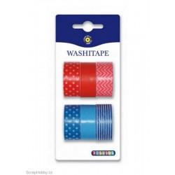 Washi páska - Sada - modro- červená