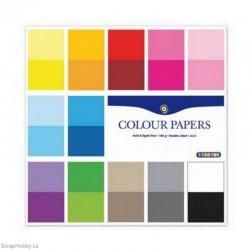 Sada papírů - Jednobarevné 24 listů - 30x30cm