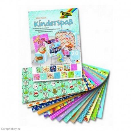 Sada kreativních papírů - Motivy dětské