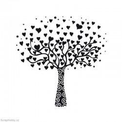 Razítko dřevěné - Srdíčkový strom