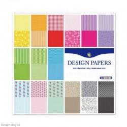 Sada papírů - Barevné 30 listů - 30x30cm