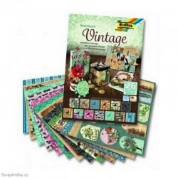 Sada kreativních papírů - Motiv Vintage