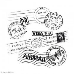 Razítka z cestovního pasu